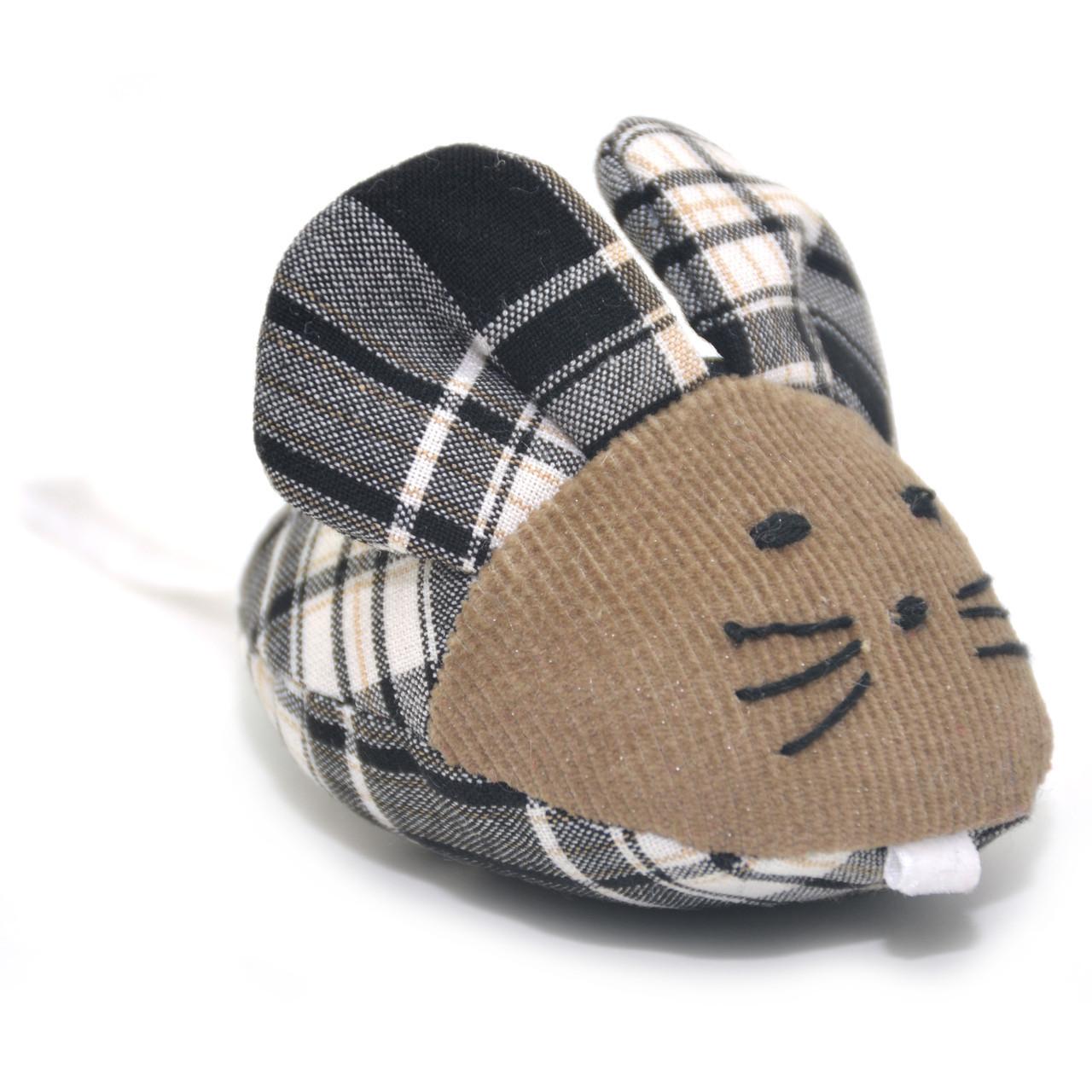 Мягкая игрушка для котов и собак Мышка клетка