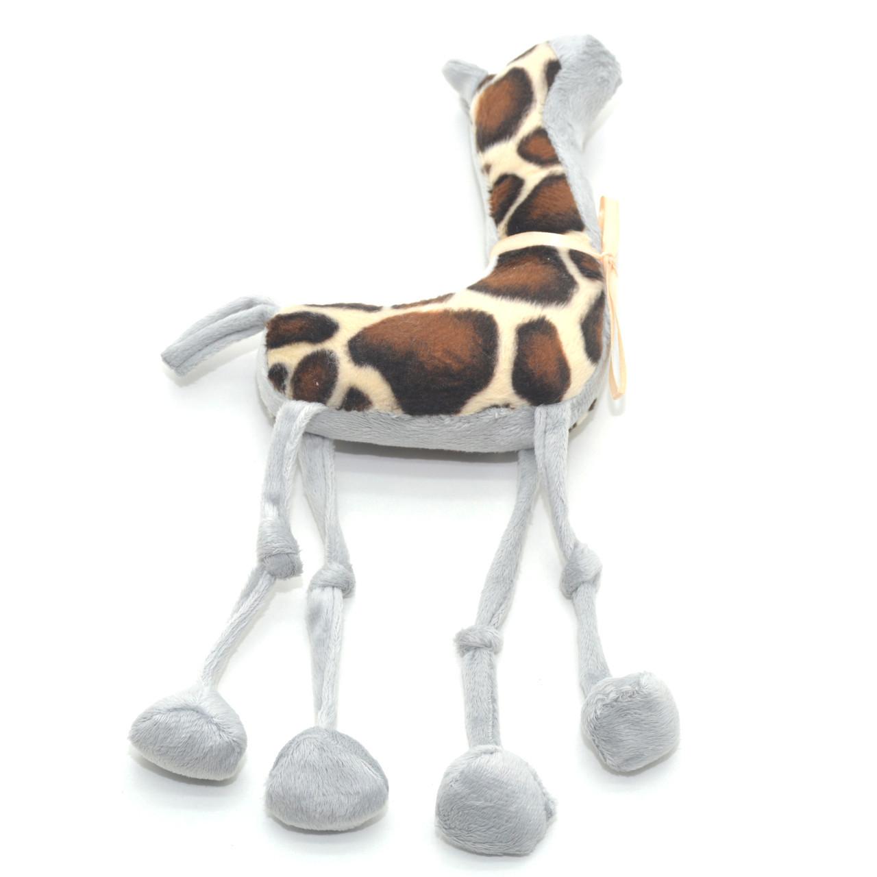 Мягкая игрушка Жираф для собаки серая