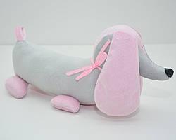 Мягкая игрушка Такса для собак серая