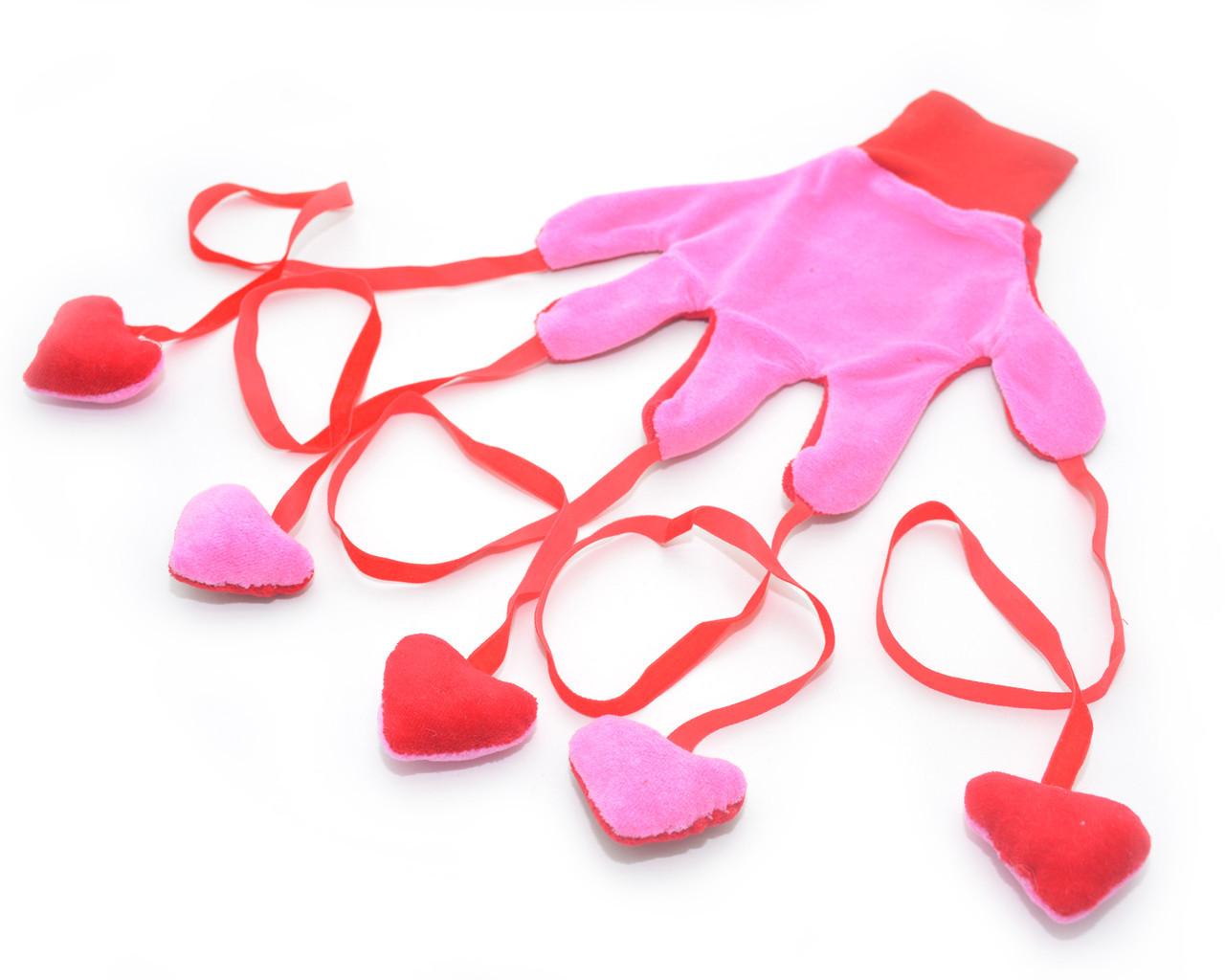 Игрушка для котов Рукавичка розовая