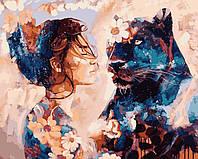 Раскраска для взрослых Звездная пантера (VP967) 40 х 50 см DIY Babylon