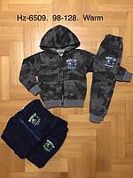 Трикотажный утепленный костюм 2 в 1 для мальчика оптом, Active Sport, 98-128 см,  № HZ-6509, фото 1