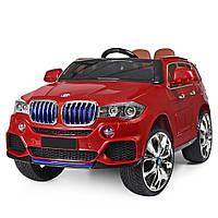Детский электромобиль BMW (БМВ) X5 с кожаным сиденьем M 2762(MP4)EBLR-3 красный