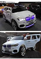 Детский электромобиль BMW X5 с кожаным сиденьем M 2762(MP4)EBLR-1 белый