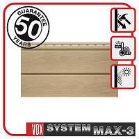 Сайдинг VOX MAX-3, панель плоская 3,85м х 0,25м., цвет: Бук