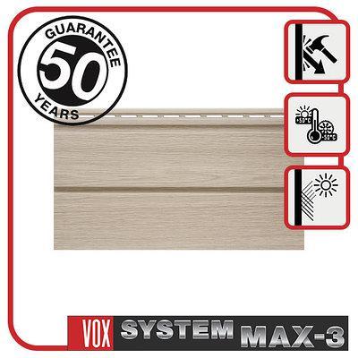 Сайдинг VOX MAX-3, панель плоская 3,85м х 0,25м., цвет: Ясень