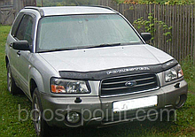 Дефлектор капоту (мухобійка) Subaru forester I (субару форестер 1 1997-2000р)
