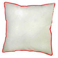 Подушка сублимационная квадратная атласная с цветным кантом
