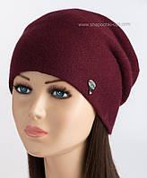 Женская шапка-колпак Джейн LX бордового цвета
