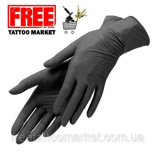 Перчатки нитриловые черные (размер XS)