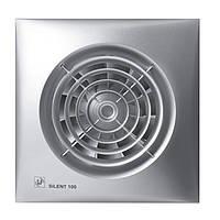 Осевой бытовой вентилятор для ванной Soler&Palau SILENT-100 CZ  SILVER *230V50*