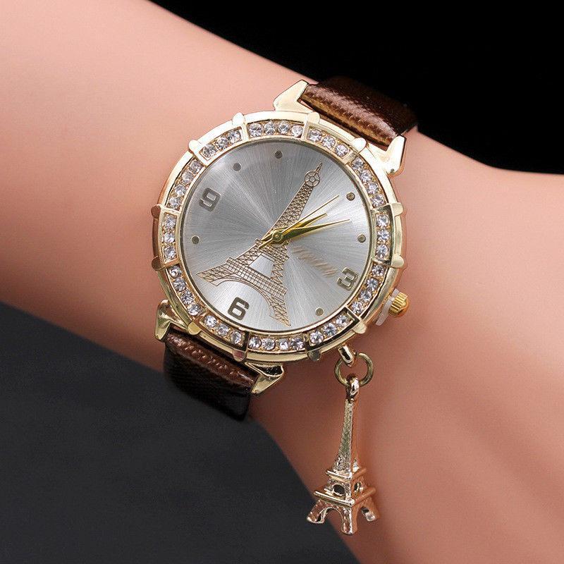 Наручные Часы «Эйфелева башня» коричневые