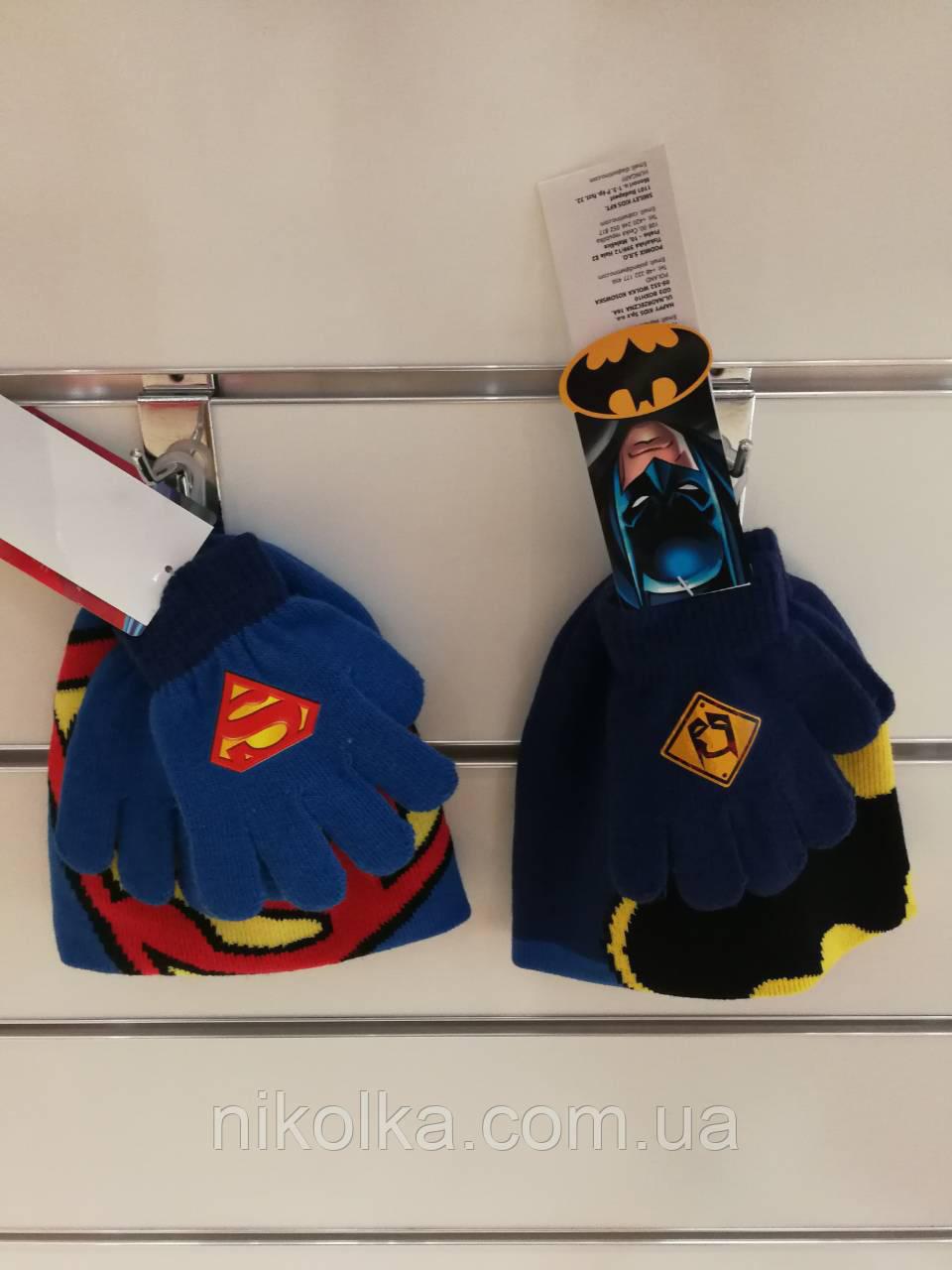 Шапки+перчатки для мальчиков оптом, Disney, арт. 780-596