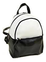 Женский рюкзак из искусственной кожи М 124 Z-ka/79 5 л черно-белый