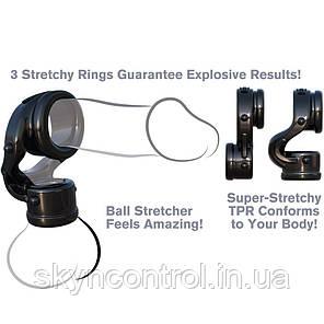 Эластичное эрекционное кольцо с подхватом мошонки  Fantasy C-Ringz, фото 2