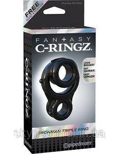Эластичное эрекционное кольцо с подхватом мошонки  Fantasy C-Ringz