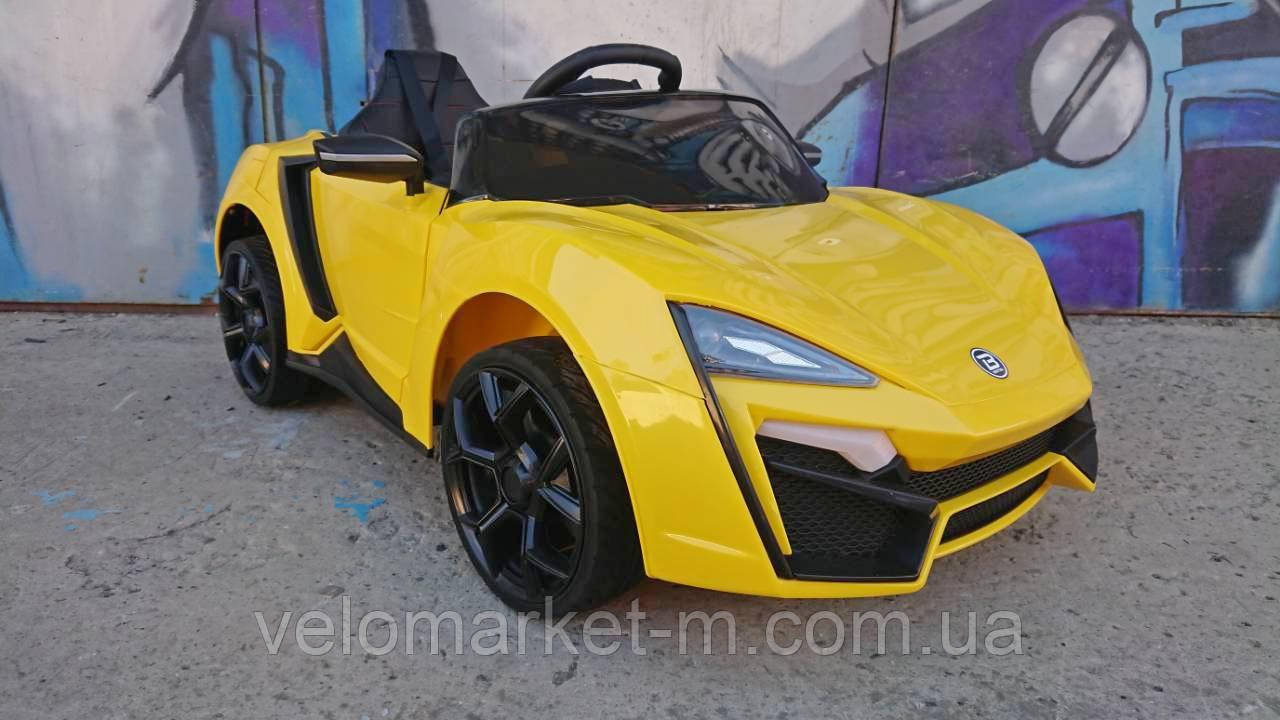 Электромобиль Lamborghini желтый