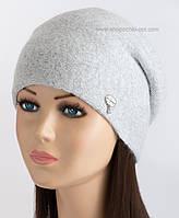 Двойная женская шапочка Джейн LX светло-серая