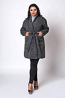 Теплый трикотажный кардиган серого цвета, фото 1