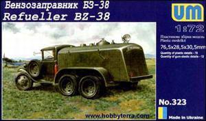 Бензозаправщік БЗ-38. Збірна модель в масштабі 1/72. UM 323, фото 2