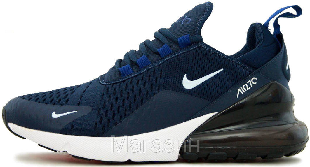 fd811bdd Мужские спортивные кроссовки Nike Air Max 270 Navy Blue (в стиле Найк Аир  Макс 270
