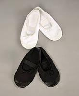 Балетки с кожаным носком для танцев