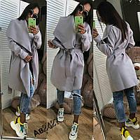 Женское кашемировое пальто на запах, без подкладки