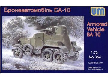 Бронеавтомобиль БА-10 / BA-10ZD. Сборная модель в масштабе 1/72. UM 366