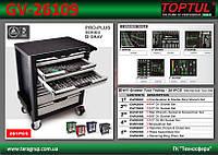 Тележка с инструментом (Pro-Plus) 7 секций 261ед. TOPTUL GV-26109