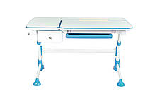 Комплект подростковая парта Amare Blue с выдвижным ящиком + детский стул SST3 Blue FunDesk , фото 2