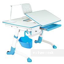Комплект подростковая парта Amare Blue с выдвижным ящиком + детский стул SST3 Blue FunDesk , фото 3