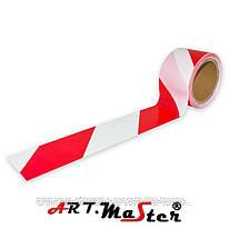 Сигнальная лента TRED 100 biało-czerwona ARTMAS