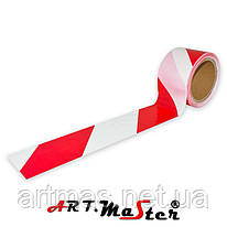 Сигнальная лента TRED 200 biało-czerwona ARTMAS