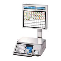 Весы электронные с печатью чека, этикетки CAS CL5000J-30IS