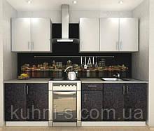 Кухни Киев - фасад сакура бело - черная
