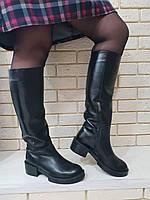 Сапоги женские классические кожаные 1895 кожа/байка, фото 1