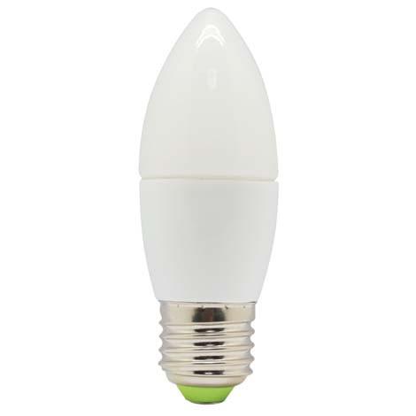 Светодиодная лампа Feron LB-97 C37 E27  5W 4000K 230V Код.58124