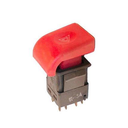 Выключатель аварийной сигнализации ВАЗ-2110 АВАР с/о (красная), фото 2