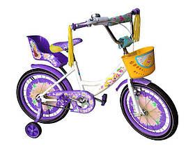 """Детский велосипед Azimut Girls 14"""" дюймов с сидением для кукол"""
