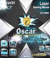 Мышь A4 Tech XL-750BK-B Oscar Laser Мouse USB Black