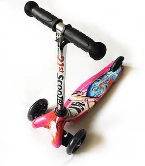 Трехколесный самокат детский 21Scooter - Mini Print - Girl, фото 2