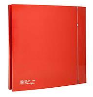 Осевой бытовой вентилятор для ванной Soler&Palau SILENT-100 CZ RED DESIGN -4C (230V 50)