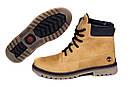 Мужские зимние кожаные ботинки Timberland crazy shoes, фото 5