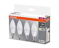 Набор (4 шт.) лампочек-свечек Osram LED Е14 5,7Вт с теплым светом