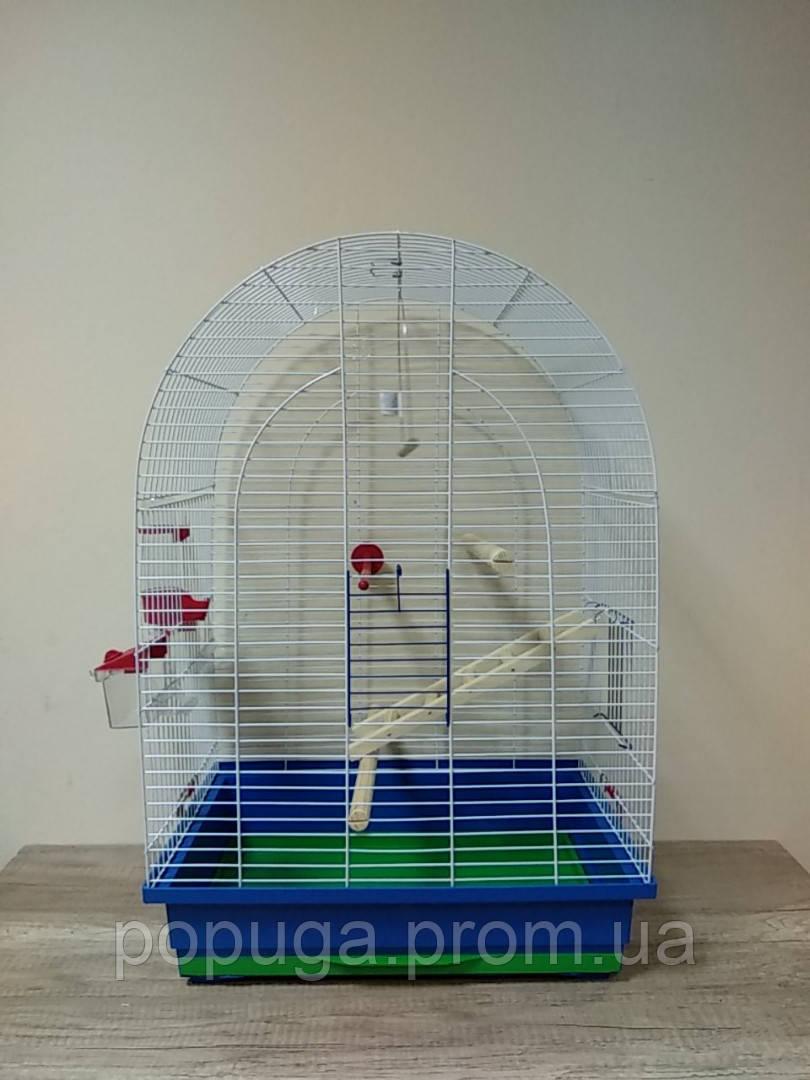 Клетка для попугаев Люси с деревянным комплектом
