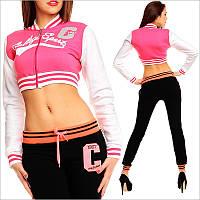 Короткая спортивная кофта женская, женская спортивная одежда
