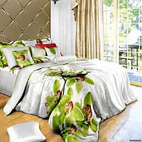 """Красивый комплект постельного белья """"Орхидея"""", 1,5, евро"""