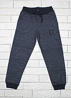 Теплые штаны для мальчика темно-синие, фото 1