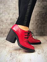 Женские закрытые туфли на устойчивом каблуке замша, кожа разные цвета NK3487