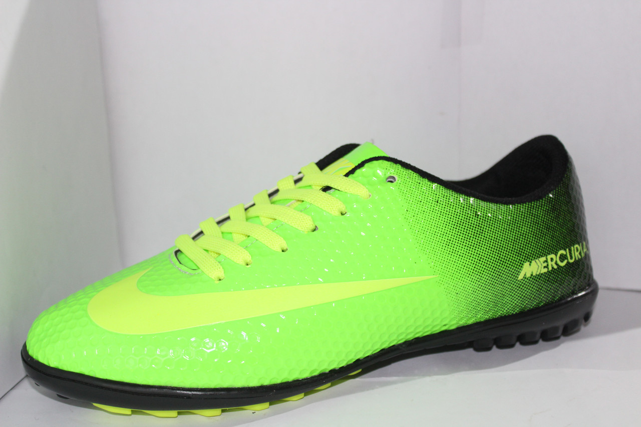 414333ed Футбольные кроссовки(копы) Nike Mercurial сороконожки синие на шнуровке для  игры в футбол на